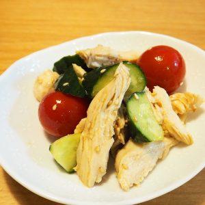 鶏むね肉の中華サラダ風