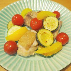 鶏とズッキーニの塩レモン