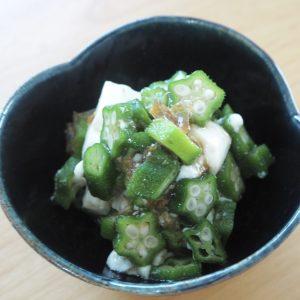 オクラと豆腐のおかかポン酢和え